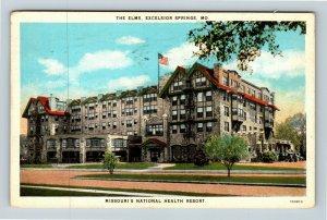 Excelsior Springs MO, Elms Hotel Health Resort, Vintage Missouri Postcard
