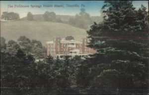 Titusville PA Fieldmore Springs Health Resort c1910 Postcard