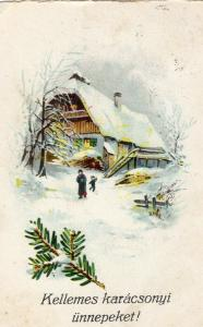 Merry Christmas And Happy New Year Vintage Postcard 01.49