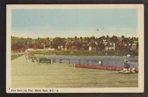 View From The Oier, White Rock, BC - Unused c1950 - Stains