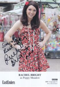 Rachel Bright as Poppy Meadow BBC Eastenders Hand Signed Cast Card Photo
