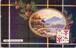 Scotland - Clan Macalpine - 1912 Tuck Card
