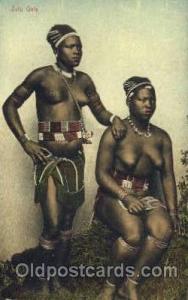 Zulu Girls African Nude Post Card Post Card  Zulu Girls