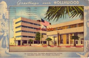 GREETINGS FROM HOLLYWOOD STATION KNX CBS COLUMBIA SQUARE 1943 Pfc Milt Davis