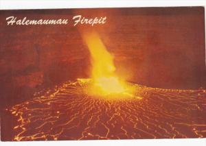 Eruption of Kilauea Volcano, Halemaumau Firepit, Hawaii National Park, 40-60s