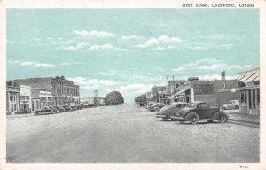 Coldwater Kansas Main Street Vintage Postcard JI657428