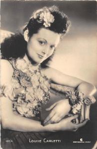 B10903 Actors Acteurs Cinema Film Louise Carletti