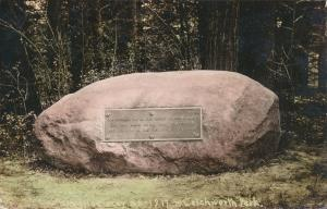 RPPC 1917 Commemorative Rock - Letchworth State Park NY, New York
