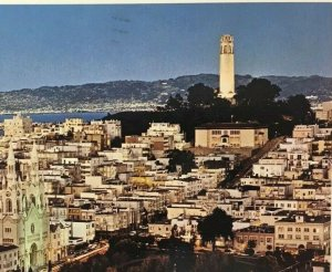 Postcard San Francisco CA Vintage Historic Telegraph Hill Coit Tower Posted