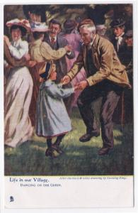 Dancing on the Green Life in Our Village 1910c Tuck postcard