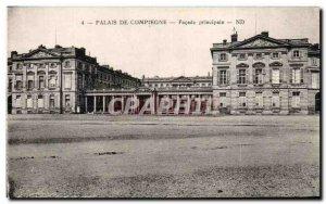Old Postcard Palais De Compiegne main Facade
