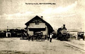 MA - Provincetown, Cape Cod. Railway Station ca. 1900
