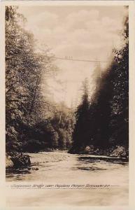 RP, Suspension Bridge Over Capilano, Vancouver, British Columbia, Canada, 192...