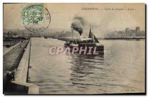 Postcard Old Ship Ship Cherbourg Output Lloyd steamer