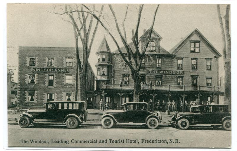 The Windsor Hotel Cars Fredericton New Brunswick Canada 1910s postcard