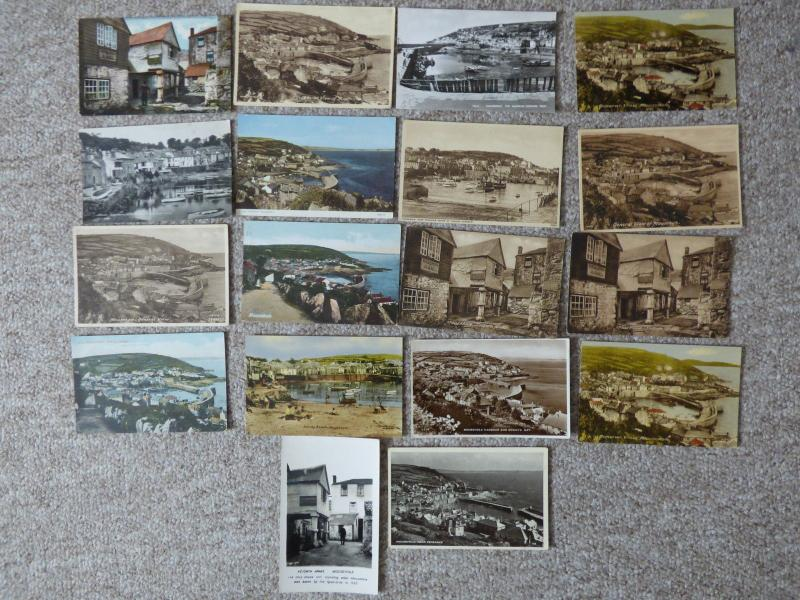 bu0154 - Mousehole , Cornwall - 18 postcards - All Showing
