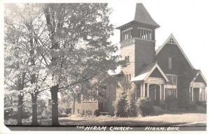 Hiram Ohio Hiram Church Real Photo Antique Postcard J78944