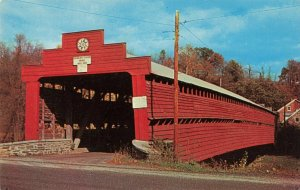 Postcard Covered Bridge Dreibelbis Station near Lenhartsville Pennsylvania