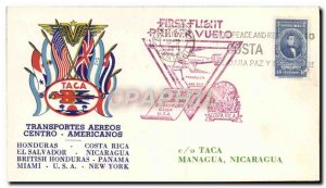 Letter Flight Costa Rica to Managua Nicaragua November 20, 1943