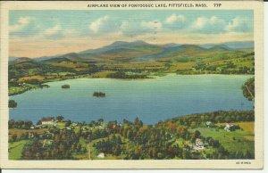 Pittsfield, Mass., Airplane View of Pontoosuc Lake Berkshire County