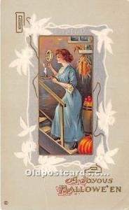 Halloween Postcard Old Vintage Post Card Series 345 F Unused