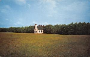 Greig NY Camp Aldersgate United Methodist Camp Chapel Across Field 1950s