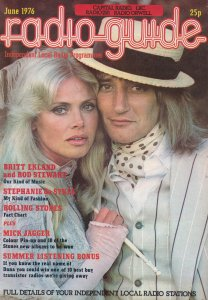 Britt Ekland Rod Stewart Mick Jaggar Stephanie De Sykes 1970s Radio Magazine
