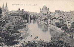 JUDAICA, Grand Synagogue, Nurnberg, View of River, Germany, Pre-1938, Holocaust