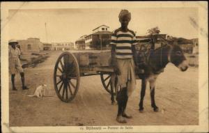 Djibouti - Young Man w/ Burro Porteur de Sable Ethnic Costume Postcard