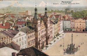 Czech Republic - Pardubice Radnice V pozadi Kunétická Hora 02.35