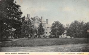Bloomington Illinois~Brokaw Hospital~1910 CU Williams Photoette~Postcard