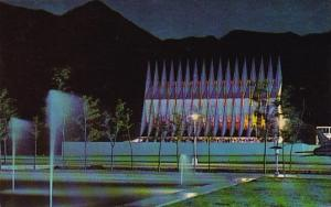 Cadet Chapel At Night U S Air Force Academy Colorado Springs Colorado