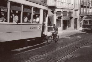 Algarve Bicycle Race Racing A Bus Portugal Postcard
