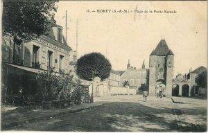 CPA Moret Place de la Porte Samois FRANCE (1100922)