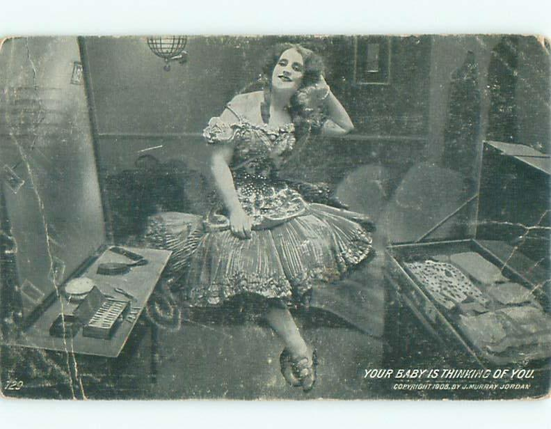 Divided-Back PRETTY WOMAN Risque Interest Postcard AA7781