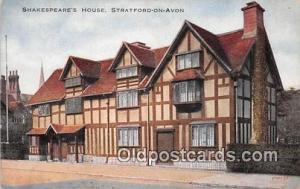 Stratford on Avon Postcard Post Card Shakespeare's House