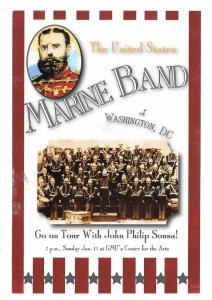 US Marine Band John Philip Sousa Concert Advert Postcard
