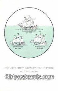 Sarah constant Godspeed and Discovery, Jamestown, Virginia, VA USA Sailboat U...