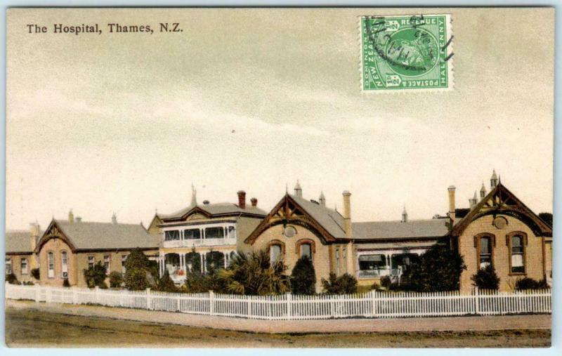 THAMES, NEW ZEALAND   View of THE HOSPITAL  ca 1910s  Postcard