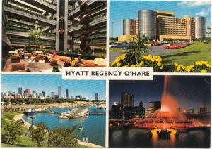 Hyatt Regency O'Hare, Chicago, unused Postcard