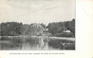 Weirs-Guilford Station NH~Winnipesaukee Inn & Camps~Folk Standing on Beach 1919