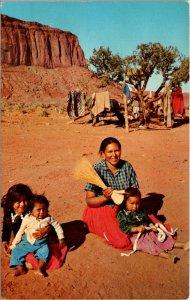 NATIVE AMERICAN - Navajo Indian Children LOWMAN VINTAGE POSTCARD COLOR CHROME