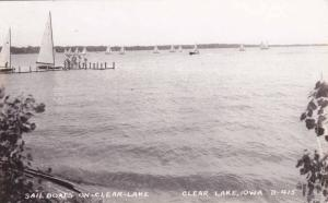 RP, Sailboats On Clear Lake, Clear Lake, Iowa, 1930-1950s
