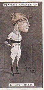 Player Vintage Cigarette Card Racing Caricatures 1925 No 2 George Archibald