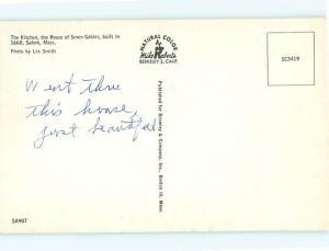 Vintage Post Card Kitchen  House Sevens Gables Salem  Mass  # 3810