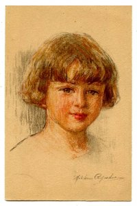Little Girl Portrait - Artist: Undetermined