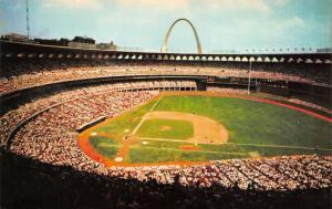 St. Louis Missouri c1966 Postcard Busch Memorial Stadium Cardinals Baseball