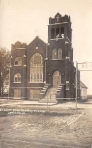 Haverhill Iowa~St John's Evangelical Church~Name Arch~c1920 Real Photo~RPPC
