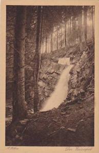 Der Wasserfall, Aus der Mappe, Der Harz, Saxony, Germany, 10-20s