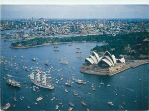 Australia Sydney Harbour Australia`s Bicentenary Celebrations butterfly stamp